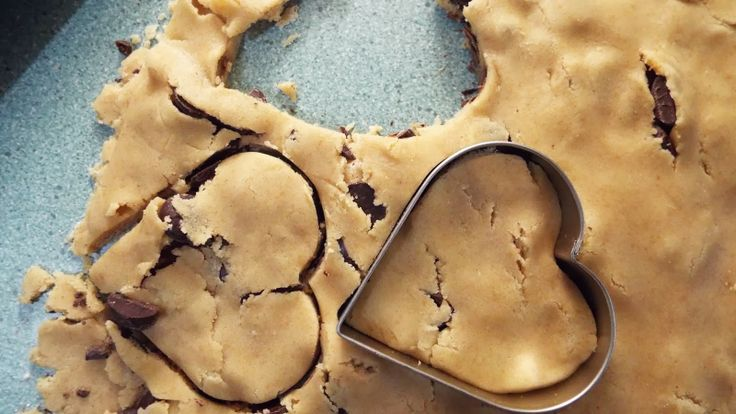 Vegan Thyme: Vegan Double Chocolate Chip Heart-Shaped Cookies (because he asked and because I needed chocolate. . . my half century/half mar...