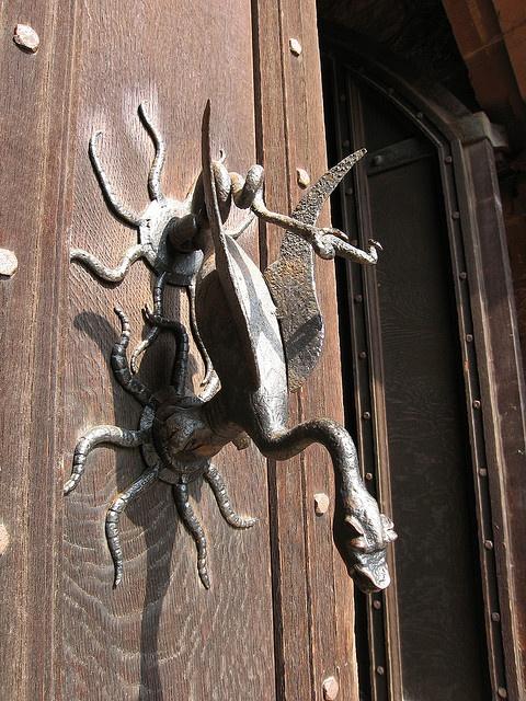 Old door knocker on Powis Castle, Wales by Shappa.