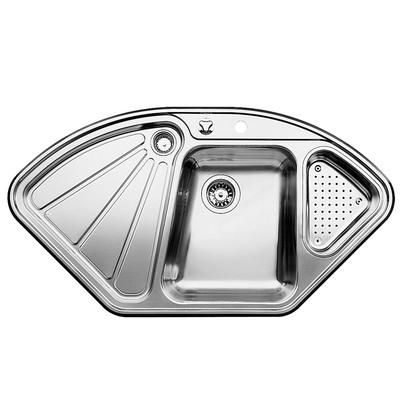 ... Bowl Topmount Stainless Steel Corner Sink, about $1257 at Home Depot