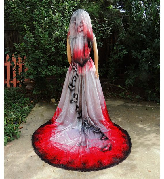 Blood Drenched Aristocratic Vampire Countess Gown
