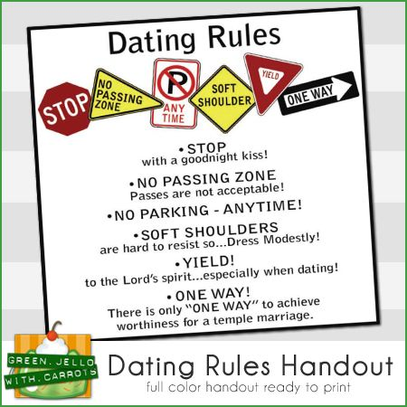 lds dating standards handouts