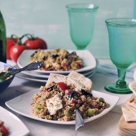 simple, yet delicious, vegetarian couscous dish with fresh ...