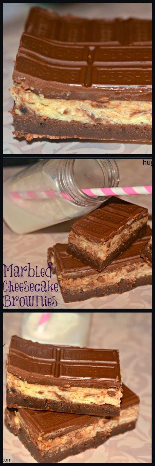 Hershey Marbled Cheesecake Brownie Bars Recipe