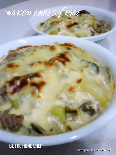 Baked Cheesy Rice | yum yum food | Pinterest