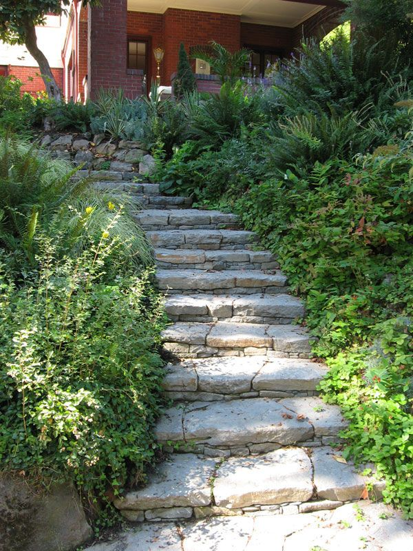 Stone steps mosaic garden design walks paths for Pictures of garden steps designs