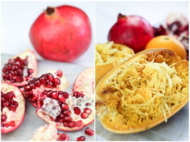 Spaghetti Squash Pomegranate & Goat Cheese Salad | by Sonia! The ...