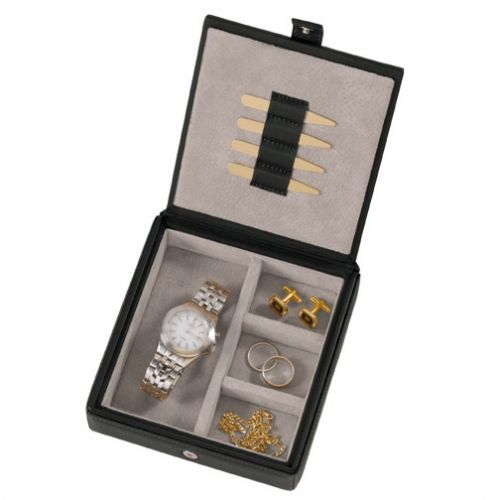 Mens travel cufflink jewelry boxes gear pinterest for Men s jewelry box for watches and cufflinks