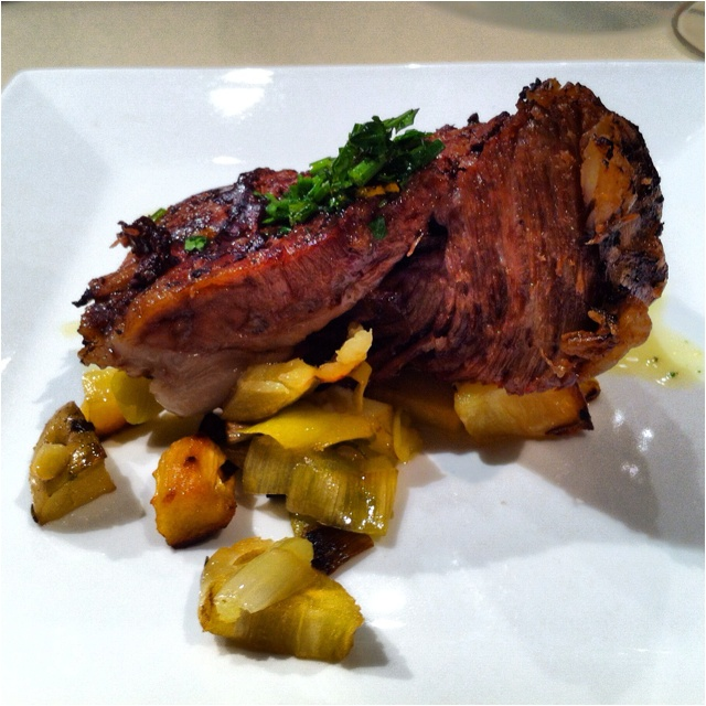 Braised Lamb w/ Parsnip & Leek & Potato, Scallion, Parsley & Rose...