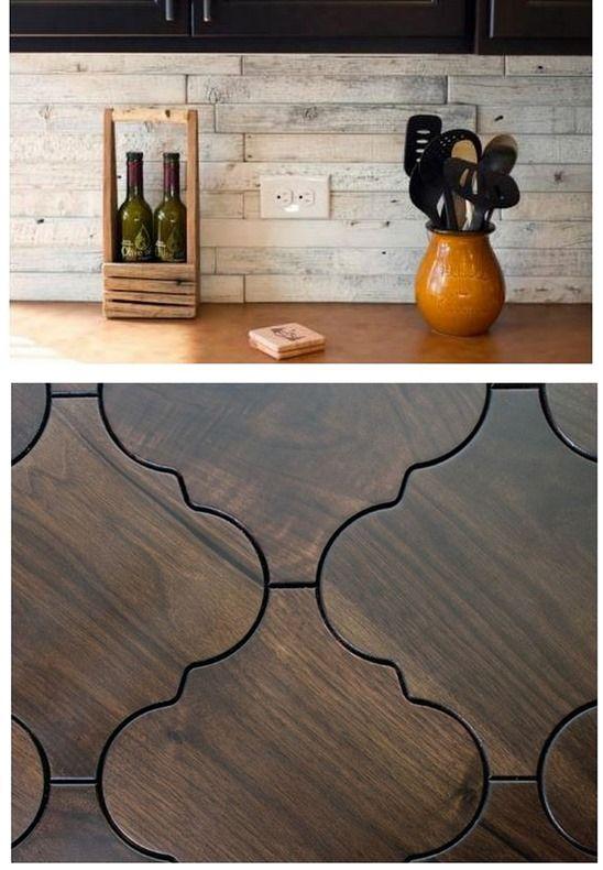 Ceramic floor tiles wood design