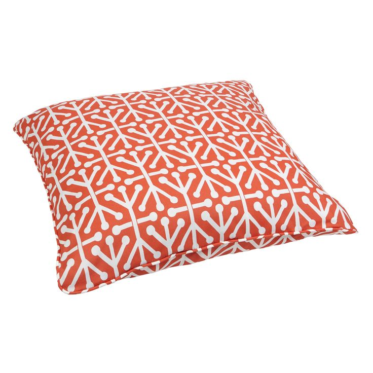 Orange Floor Pillows : Dossett Orange Corded Outdoor/ Indoor Large 28-inch Floor Pillow Overstock.com Shopping - Big ...