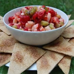 Healthier Annie's Fruit Salsa and Cinnamon Chips Allrecipes.com