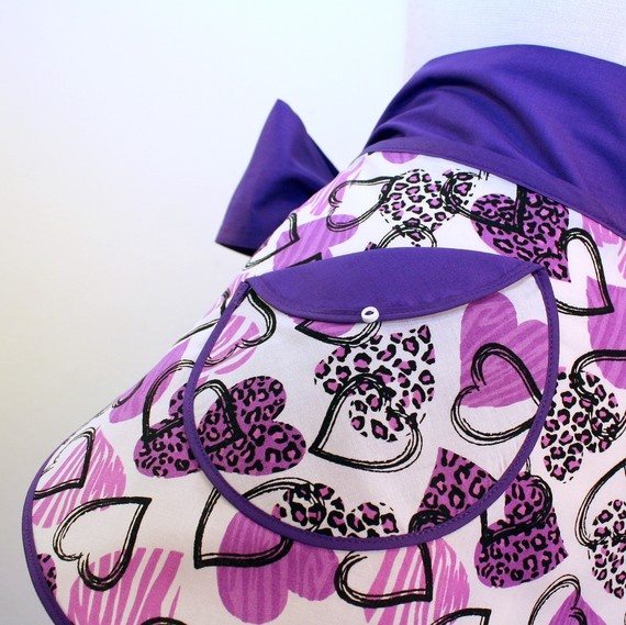 The SKIMPY Hostess Apron in Purple Passion by spicerakdesigns, $20.00
