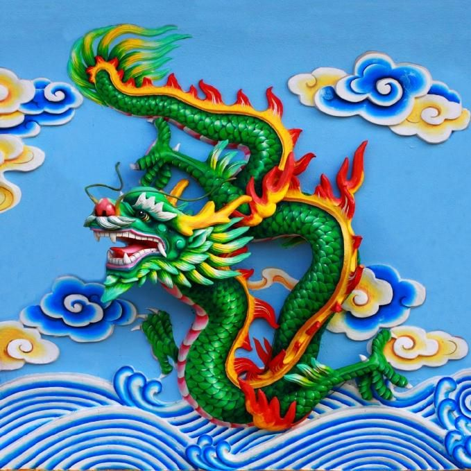 Chinese dragon chinese dragons pinterest for Chinese dragon mural