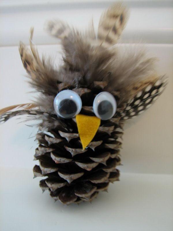 Pine cone owl craft 4th grade ideas pinterest for Pine cone craft ideas