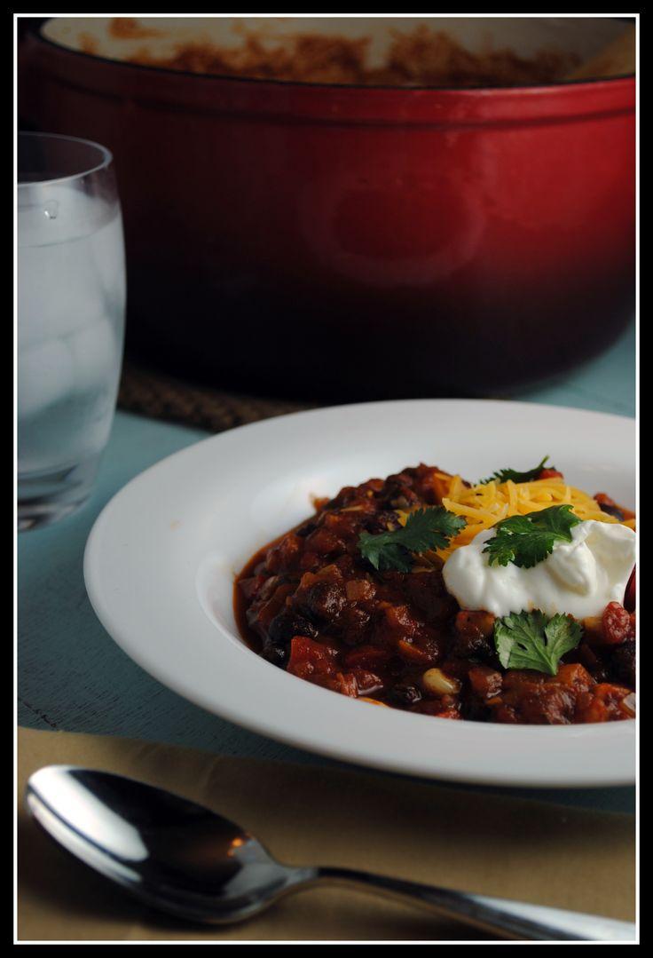 Vegetarian Black Bean Chili | Things to make and bake | Pinterest