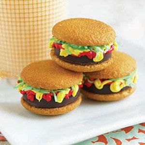 Mini Burger Cookies | Recipe