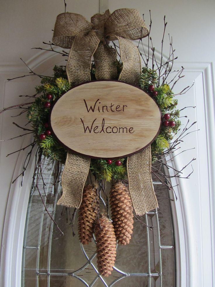 Winter Wreath Holiday Wreath Diy Pinterest