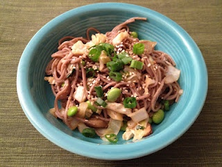 Spicy Soba Noodles with Shiitakes | My Recipe Endeavors | Pinterest