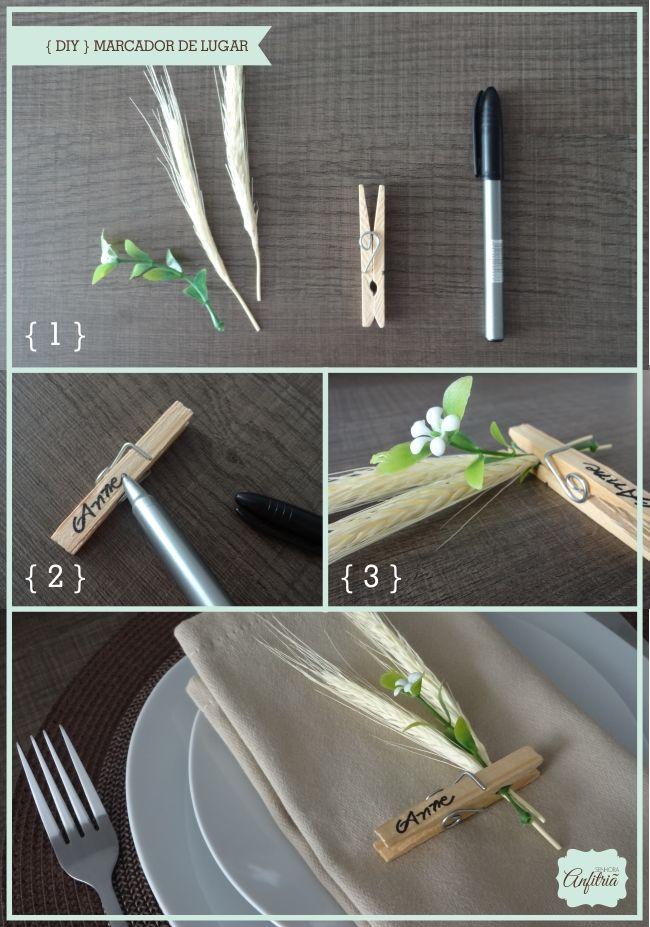 marcador_de_lugar_senhoraanfitria | DIY | Pinterest