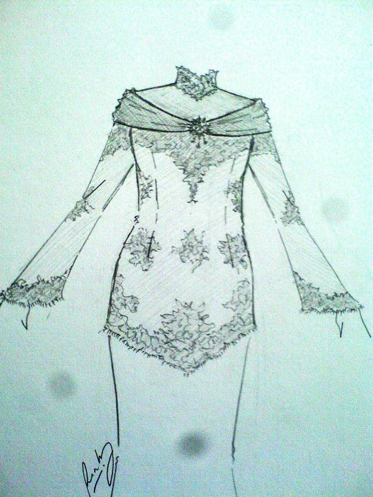 kebaya sketsa   National dress kebaya Indonesia   Pinterest