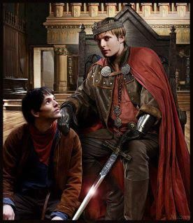 King Arthur and Merlin -- Merlin looks so much like his puppy dog here    King Arthur And Merlin