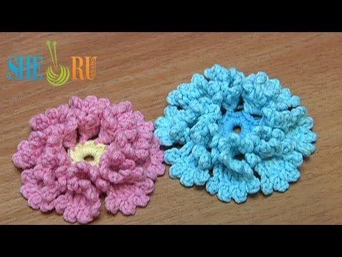 Уроки вязания цветов на ютубе