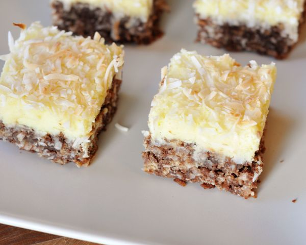 Mel's Kitchen Cafe | Chocolate Haystack Cream Cheese Squares