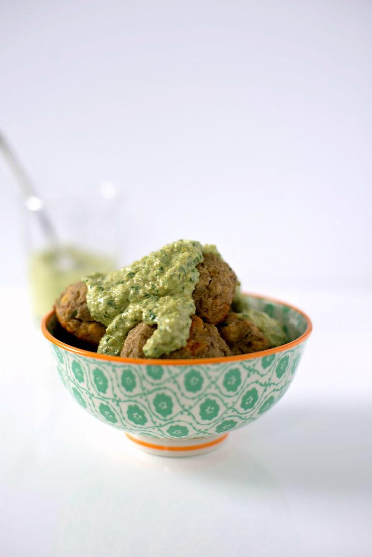 "Lentil ""Meatballs"" with Lemon Pesto - from the Sprouted Kitchen ..."
