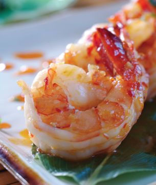 Your Home and Lifestyle Magazine Recipe Article - Grand Marnier Prawns
