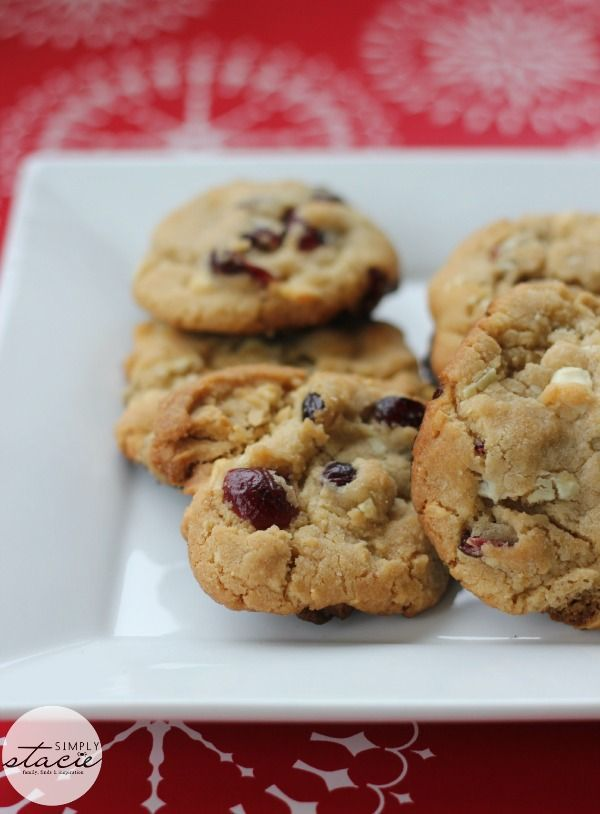 White Chocolate Chunk Cranberry Cookies. | food :) | Pinterest