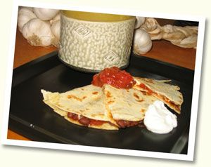 Black Bean and Goat Cheese Quesadillas | Recipes | Pinterest