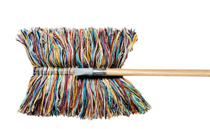 All Natural Wool Dust Mop.