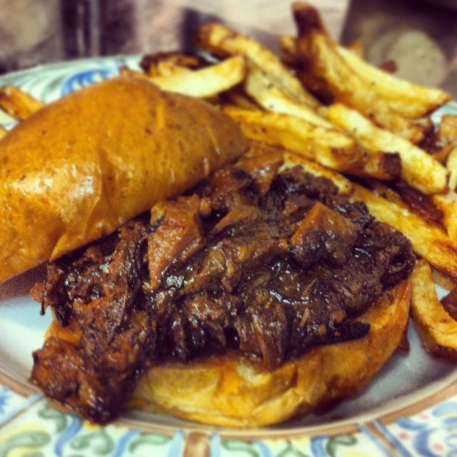 Barbeque Braised Short Rib Sandwich: Pulled Boneless Short Rib of Beef ...