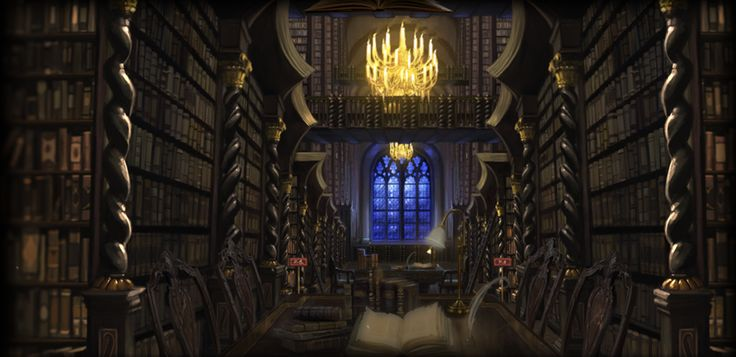 The Hogwarts Library From Pottermore