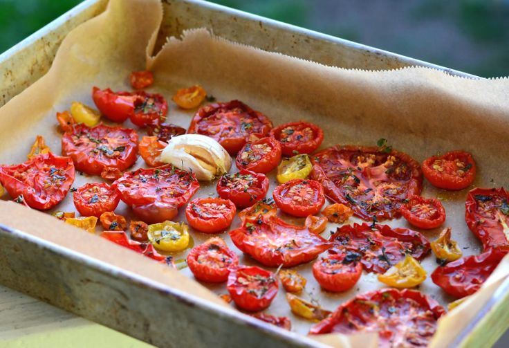Oven Roasted Tomatoes ~ sunshine lady | I'd Like a Bite of That { Rec ...