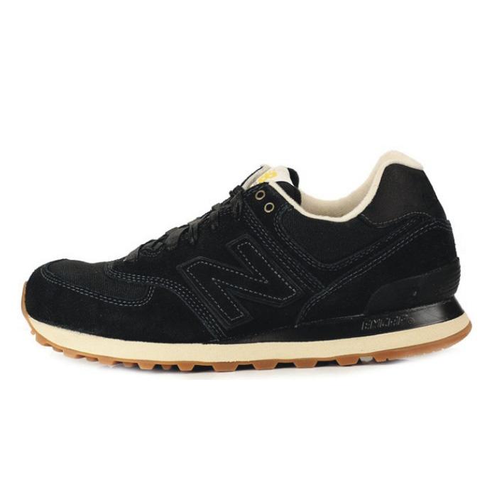 Calzado deportivo 2013 genuinos contra utillaje ligero retro zapatos corrientes de los hombres Negro 574