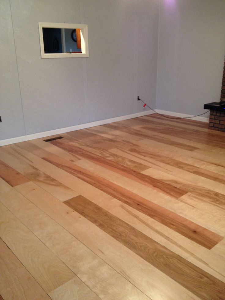 Diy Birch Plywood Plank Floors Remodeling Ideas Pinterest