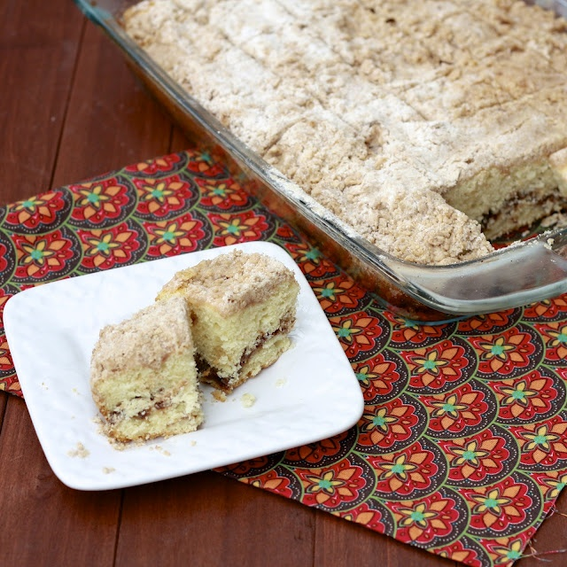 extra crumb coffee cake. Perfect for a large breakfast group.
