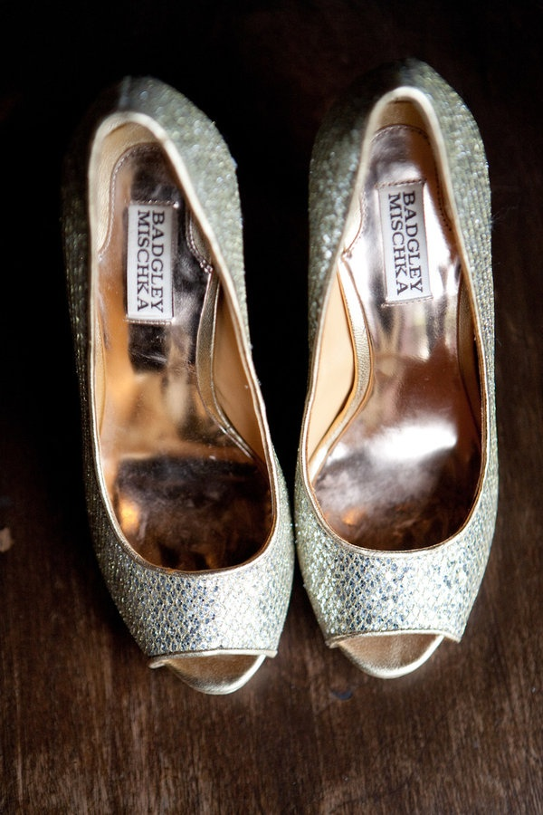 Badgley Mischka shoes. (I wore these