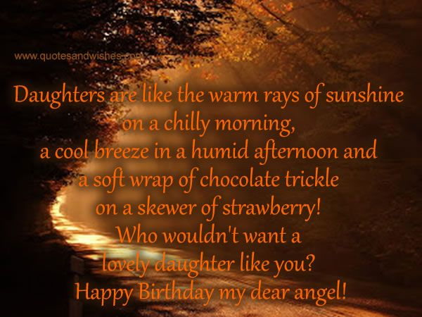 daughter birthday quotes happy birthday messages for
