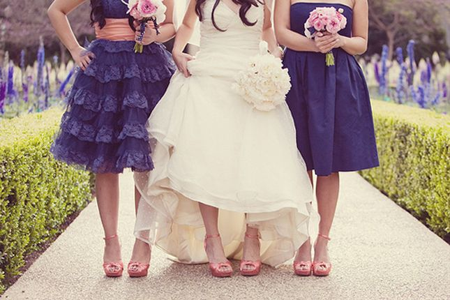 The Secrets for Successful Mismatched Bridesmaids. I like this.