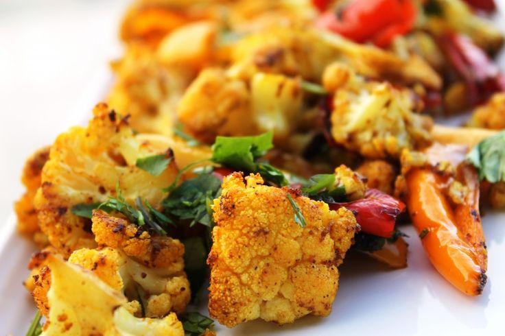 roasted cauliflower and sweet peppers | Savory Yum | Pinterest
