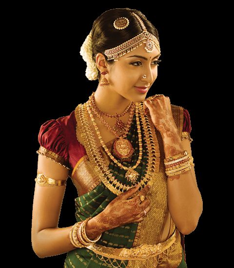 traditional south indian Tamil Bride wearing bridal saree and jewellery