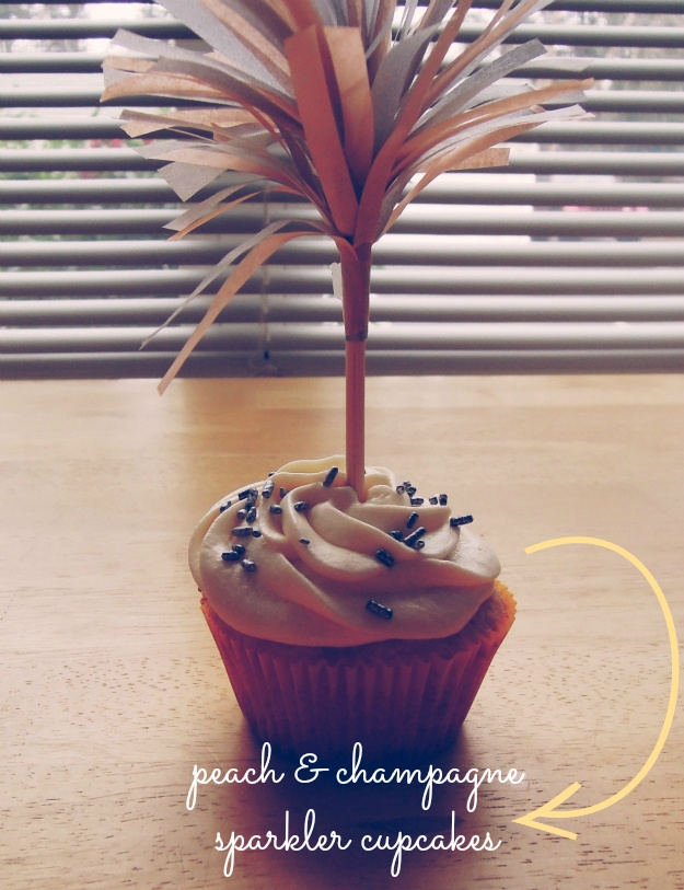 ... sound delicious! peach & champagne sparkler cupcakes @ oh meaghan