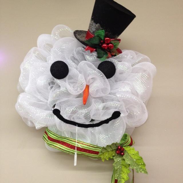 Snowman Wreath | crafts, wreaths, etc | Pinterest