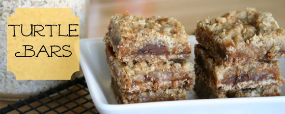 Turtle Bars- Needs chopped pecans in there to make it fully a Turtle ...