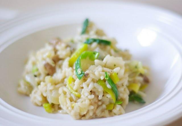 Leek, Mushroom and Lemon Risotto | savory eats | Pinterest