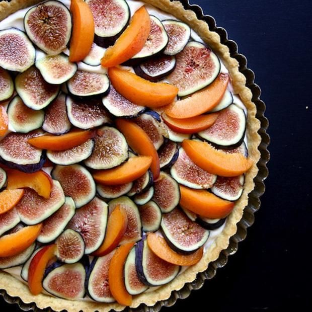 Fresh Fig, Apricot & Mascarpone Tart | Recipes | Pinterest
