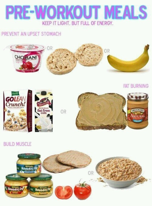 Pre workout food ideas quick