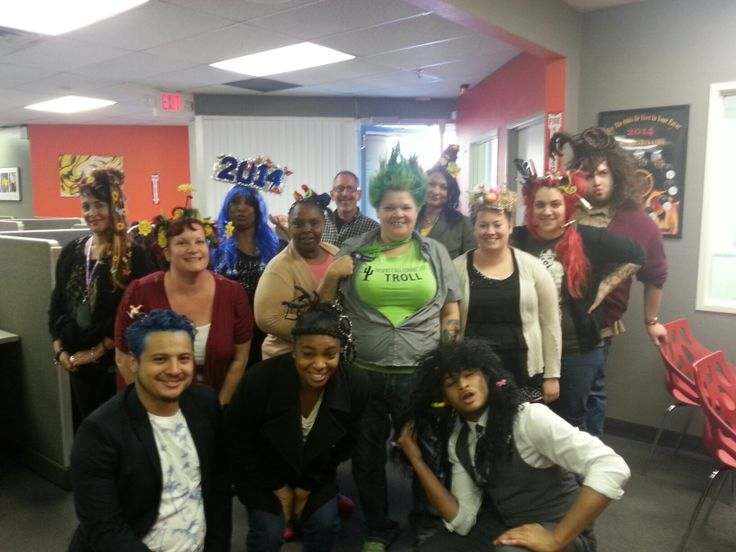 Here S A Big Group Picture Of Employees In Crazy Hair